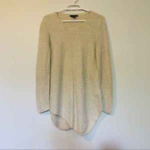 Tribal Knitted Scoop Bottom Shirt